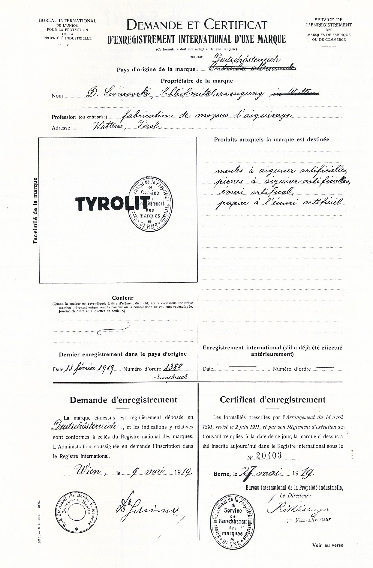 TYROLIT - Inovations - Timeline - The founding of TYROLIT
