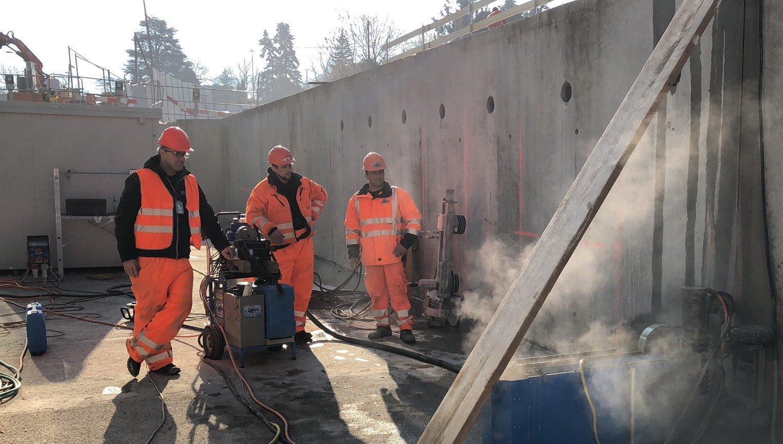 TYROLIT - Stories - Betonwand Rückbau am neuen Bahnhof Lancy-Bachet in Genf